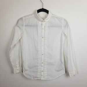 Burberry boys button down formal shirt. ruffle